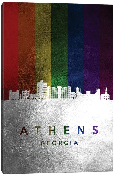 Athens Georgia Spectrum Skyline Canvas Art Print