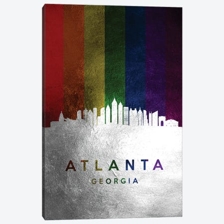 Atlanta Georgia Spectrum Skyline Canvas Print #ABV661} by Adrian Baldovino Canvas Art Print