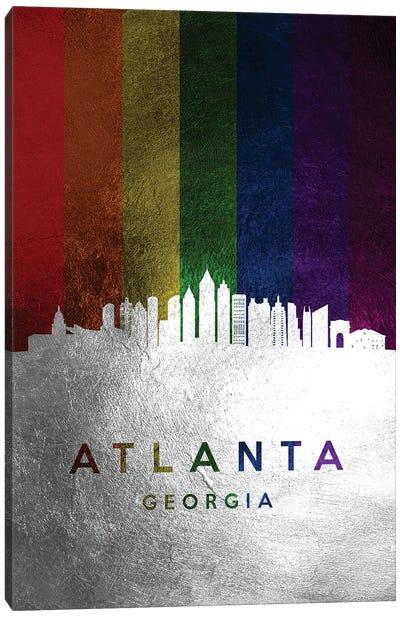 Atlanta Georgia Spectrum Skyline Canvas Art Print