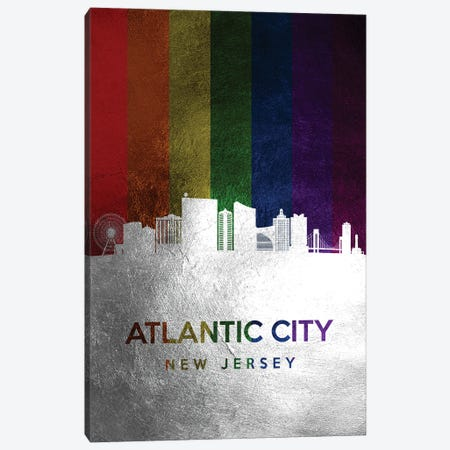 Atlantic City New Jersey Spectrum Skyline Canvas Print #ABV662} by Adrian Baldovino Canvas Print