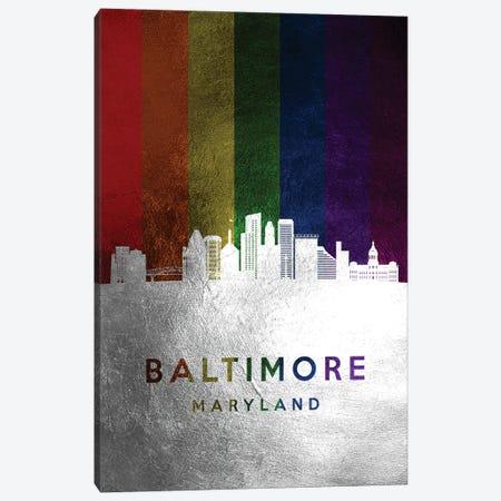 Baltimore Maryland Spectrum Skyline Canvas Print #ABV664} by Adrian Baldovino Canvas Art
