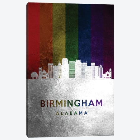 Birmingham Alabama Spectrum Skyline Canvas Print #ABV666} by Adrian Baldovino Canvas Wall Art