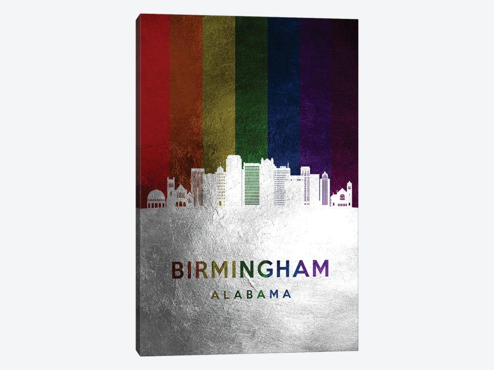 Birmingham Alabama Spectrum Skyline by Adrian Baldovino 1-piece Canvas Wall Art