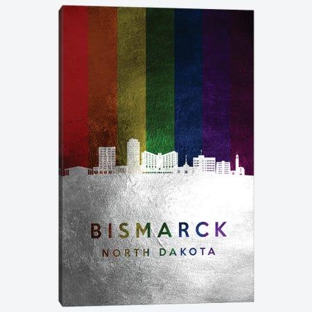 Bismarck North Dakota Spectrum Skyline Canvas Print #ABV667} by Adrian Baldovino Canvas Art