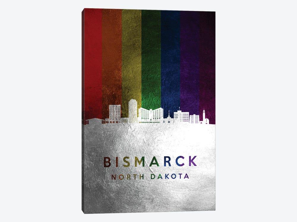Bismarck North Dakota Spectrum Skyline by Adrian Baldovino 1-piece Canvas Print