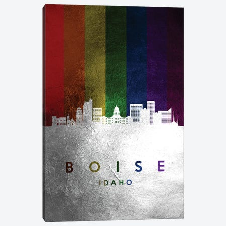 Boise Idaho Spectrum Skyline Canvas Print #ABV668} by Adrian Baldovino Canvas Art Print