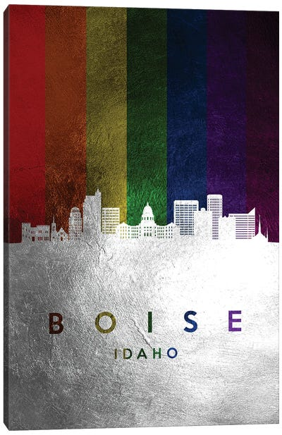 Boise Idaho Spectrum Skyline Canvas Art Print