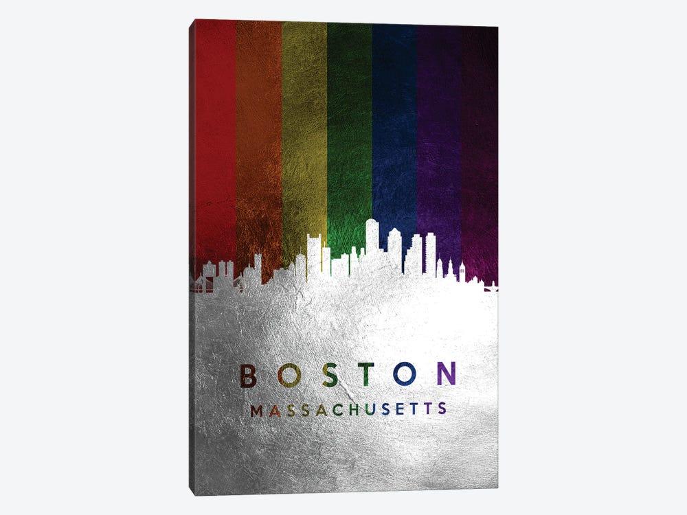 Boston Massachusetts Spectrum Skyline by Adrian Baldovino 1-piece Canvas Print