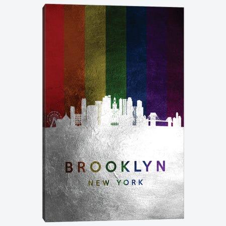 Brooklyn New York Spectrum Skyline Canvas Print #ABV670} by Adrian Baldovino Canvas Art