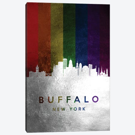 Buffalo New York Spectrum Skyline Canvas Print #ABV671} by Adrian Baldovino Canvas Wall Art