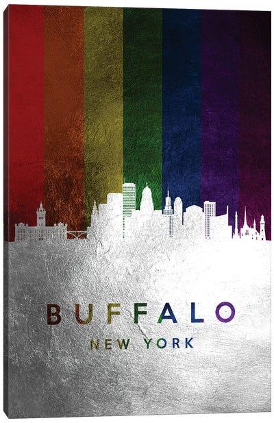 Buffalo New York Spectrum Skyline Canvas Art Print