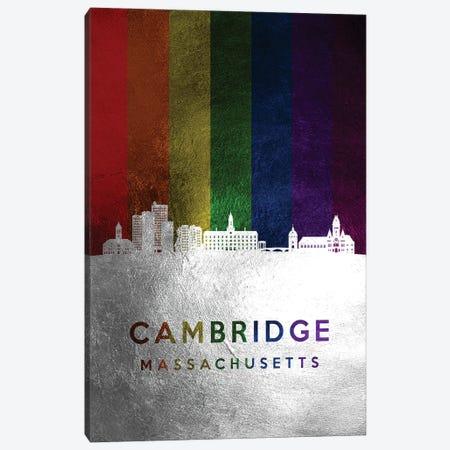Cambridge Massachusetts Spectrum Skyline Canvas Print #ABV672} by Adrian Baldovino Canvas Artwork