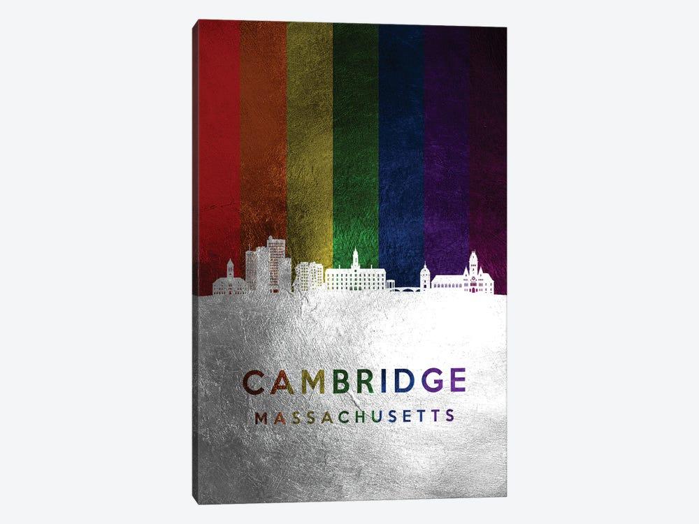 Cambridge Massachusetts Spectrum Skyline by Adrian Baldovino 1-piece Canvas Print