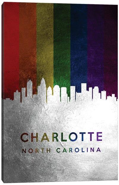 Charlotte North Carolina Spectrum Skyline Canvas Art Print