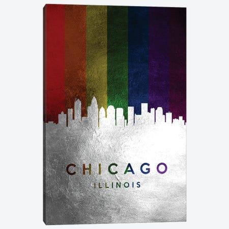 Chicago Illinois Spectrum Skyline Canvas Print #ABV674} by Adrian Baldovino Art Print