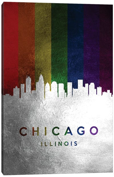 Chicago Illinois Spectrum Skyline Canvas Art Print