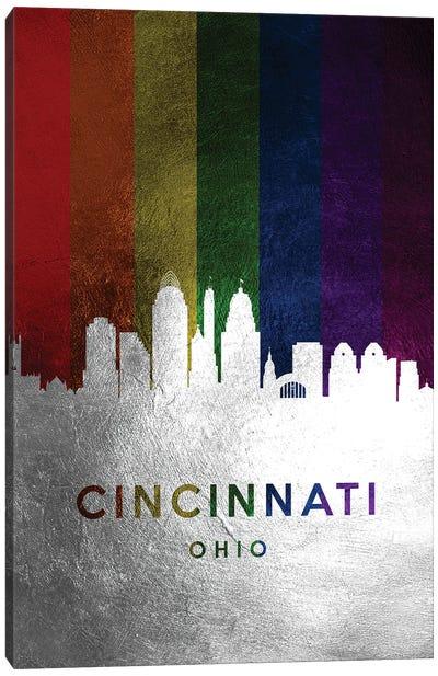 Cincinnati Ohio Spectrum Skyline Canvas Art Print