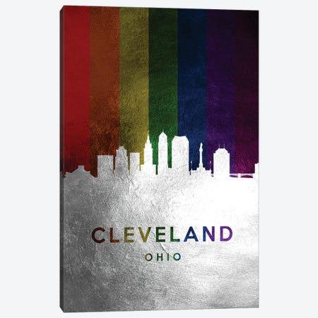 Cleveland Ohio Spectrum Skyline Canvas Print #ABV676} by Adrian Baldovino Canvas Art Print