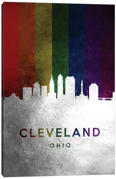 Cleveland Ohio Spectrum Skyline Canvas Art Print