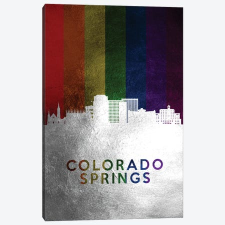 Colorado Springs Spectrum Skyline Canvas Print #ABV678} by Adrian Baldovino Canvas Art