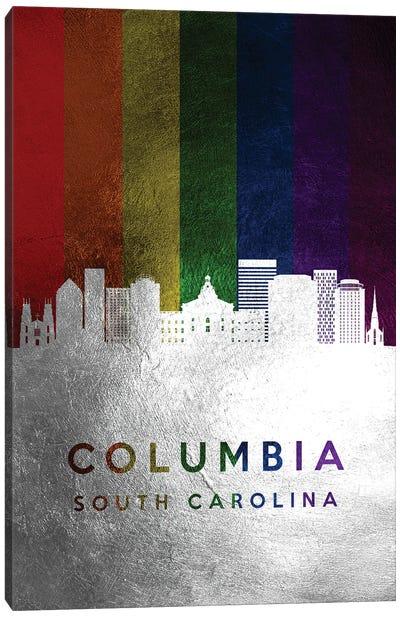 Columbia South Carolina Spectrum Skyline Canvas Art Print