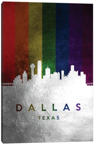 Dallas Texas Spectrum Skyline Canvas Art Print