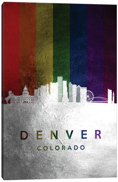 Denver Colorado Spectrum Skyline Canvas Art Print