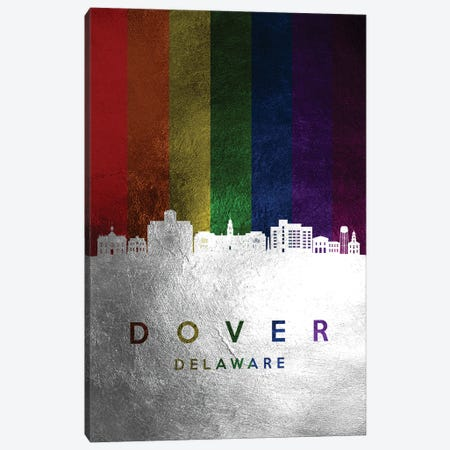 Dover Delaware Spectrum Skyline Canvas Print #ABV686} by Adrian Baldovino Canvas Wall Art