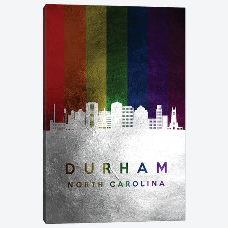 Durham North Carolina Spectrum Skyline Canvas Print #ABV687} by Adrian Baldovino Canvas Art