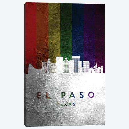 El Paso Texas Spectrum Skyline Canvas Print #ABV688} by Adrian Baldovino Canvas Art Print