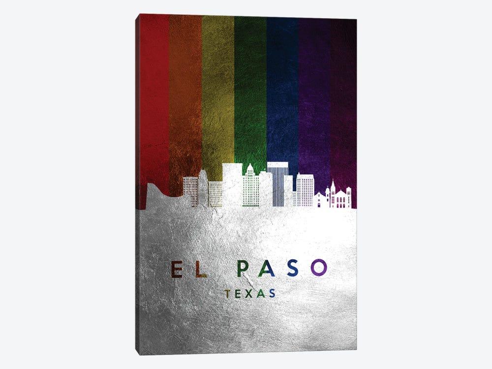 El Paso Texas Spectrum Skyline by Adrian Baldovino 1-piece Canvas Wall Art