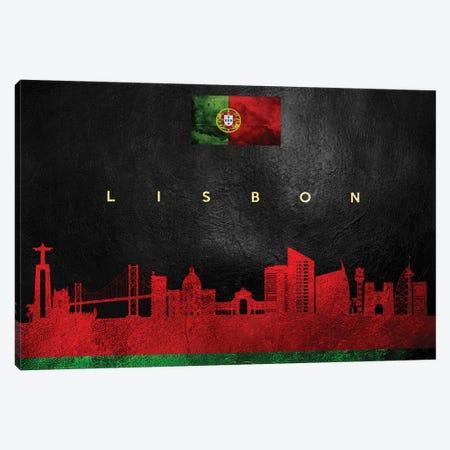 Lisbon Portugal Skyline Canvas Print #ABV68} by Adrian Baldovino Canvas Art