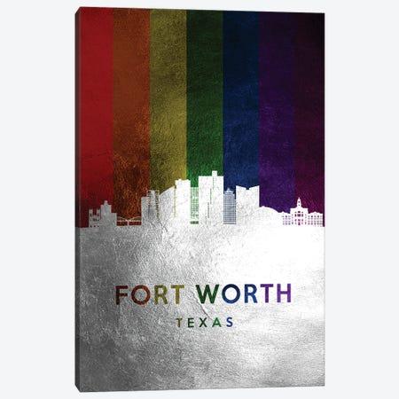 Fort Worth Texas Spectrum Skyline Canvas Print #ABV690} by Adrian Baldovino Canvas Art