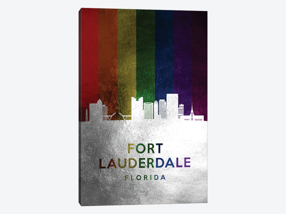 Fort Lauderdale Florida Spectrum Skyline by Adrian Baldovino 1-piece Art Print