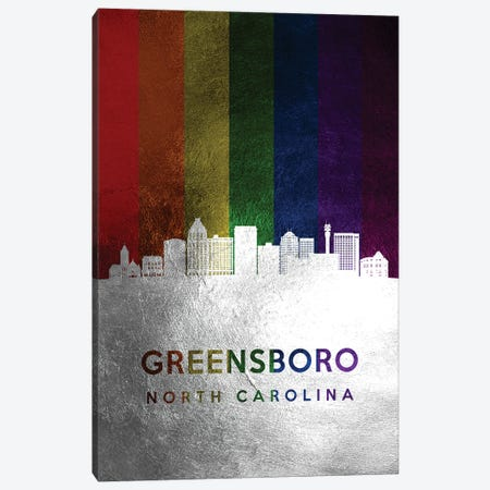 Greensboro North Carolina Spectrum Skyline Canvas Print #ABV694} by Adrian Baldovino Canvas Print