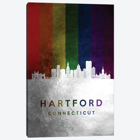 Hartford Connecticut Spectrum Skyline Canvas Print #ABV695} by Adrian Baldovino Canvas Print