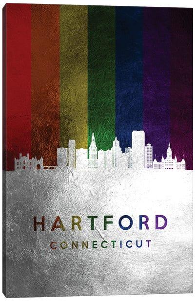 Hartford Connecticut Spectrum Skyline Canvas Art Print