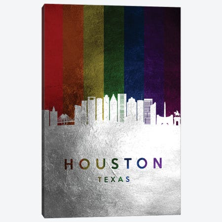 Houston Texas Spectrum Skyline Canvas Print #ABV697} by Adrian Baldovino Art Print
