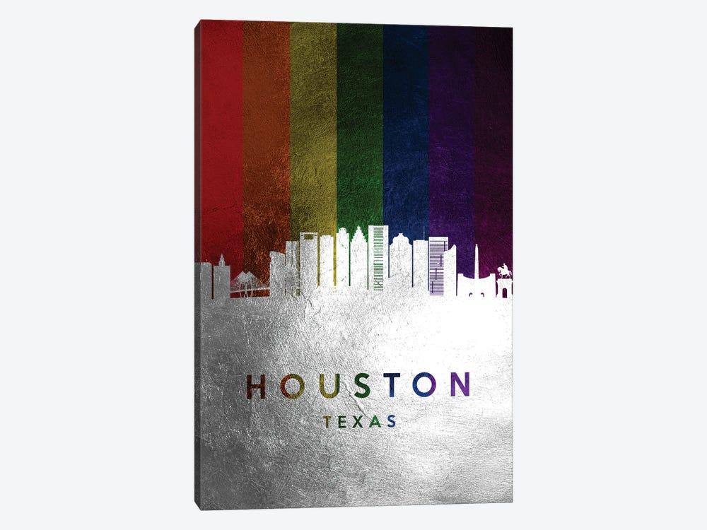 Houston Texas Spectrum Skyline by Adrian Baldovino 1-piece Canvas Artwork