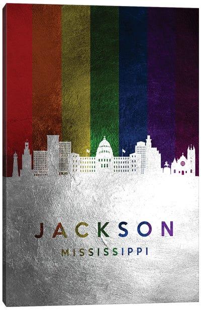 Jackson Mississippi Spectrum Skyline Canvas Art Print