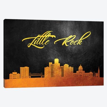 Little Rock Arkansas Gold Skyline Canvas Print #ABV69} by Adrian Baldovino Canvas Art