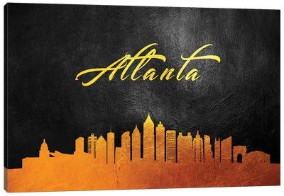 Atlanta Georgia Gold Skyline Canvas Art Print