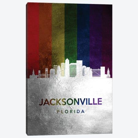 Jacksonville Florida Spectrum Skyline Canvas Print #ABV700} by Adrian Baldovino Canvas Art