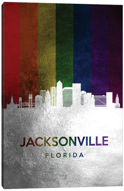 Jacksonville Florida Spectrum Skyline Canvas Art Print