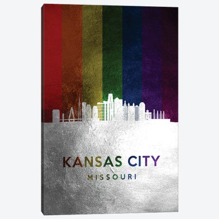 Kansas City Missouri Spectrum Skyline Canvas Print #ABV702} by Adrian Baldovino Canvas Art