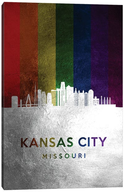 Kansas City Missouri Spectrum Skyline Canvas Art Print