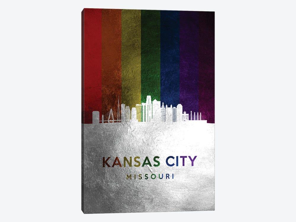 Kansas City Missouri Spectrum Skyline by Adrian Baldovino 1-piece Art Print