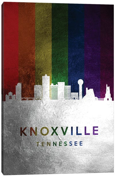 Knoxville Tennessee Spectrum Skyline Canvas Art Print