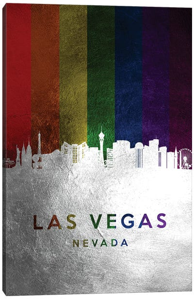 Las Vegas Nevada Spectrum Skyline Canvas Art Print
