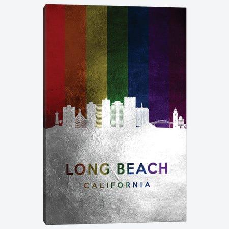 Long Beach California Spectrum Skyline Canvas Print #ABV707} by Adrian Baldovino Art Print